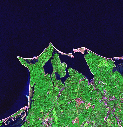 [Landsat GEOCOVER image before processing]