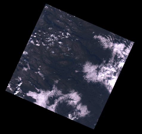 [Cloud-Obscured Landsat Image]